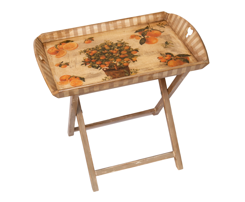 TRAYS WITH CROSSED LEGS 65X40